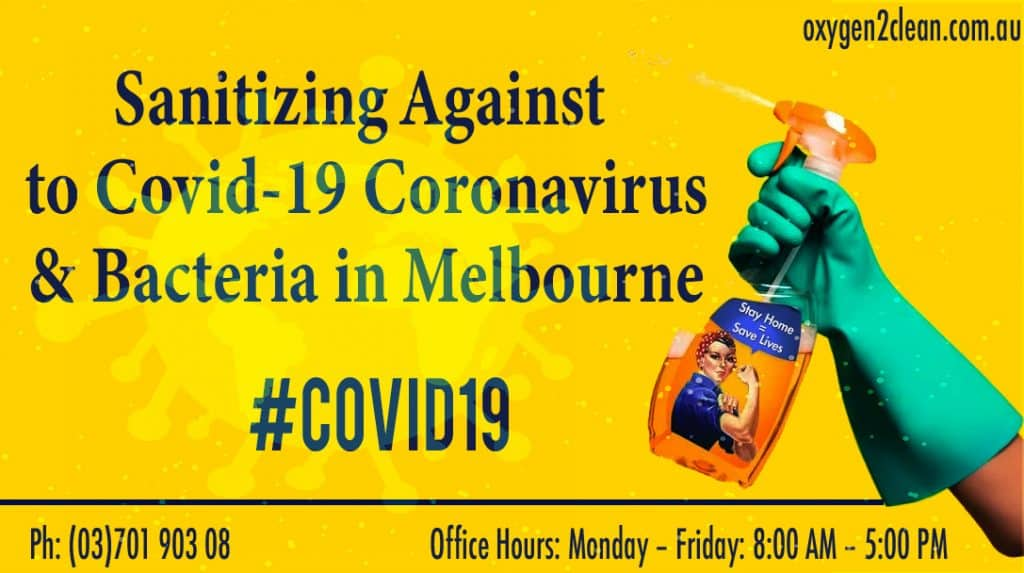 Sanitizing Against to Corona in Melbourne